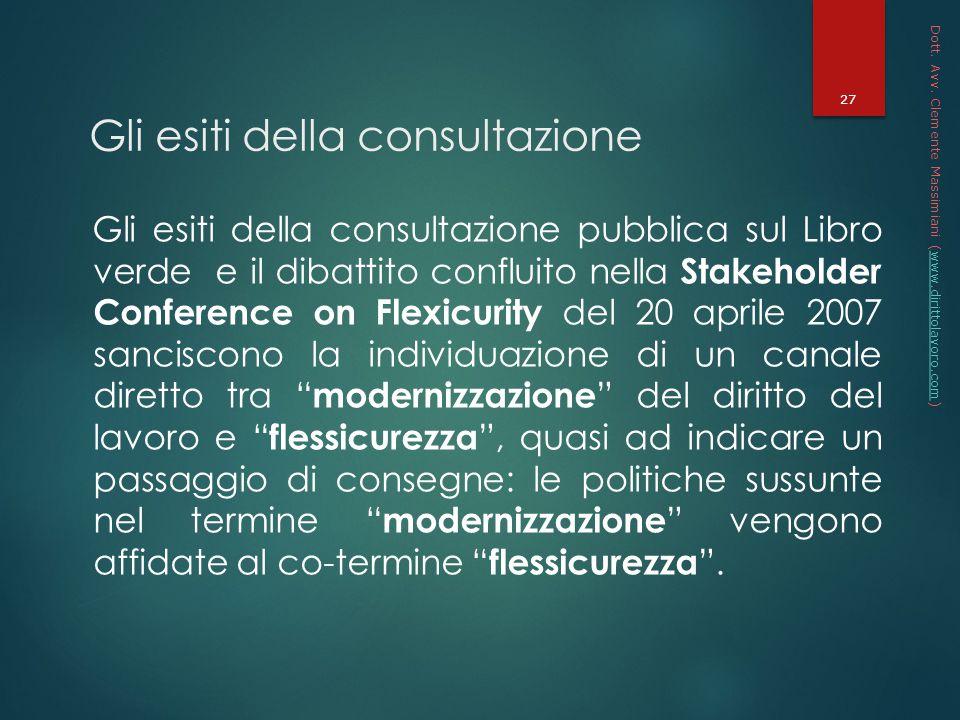 Gli esiti della consultazione
