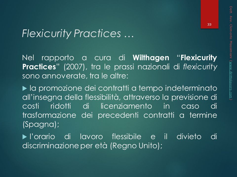 Flexicurity Practices …