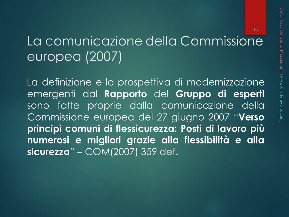La comunicazione della Commissione europea (2007)