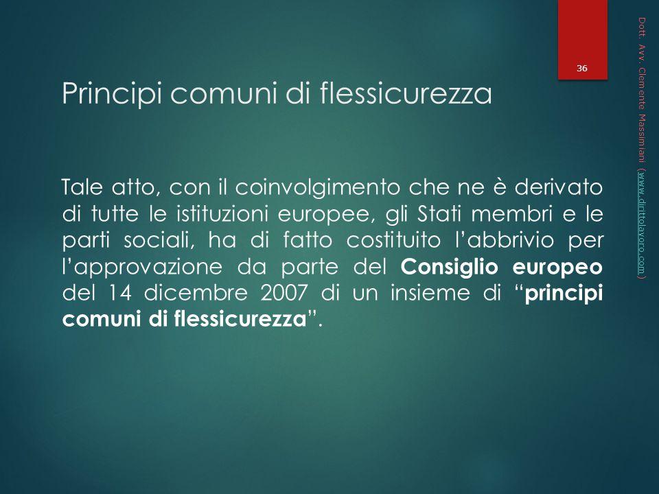 Principi comuni di flessicurezza