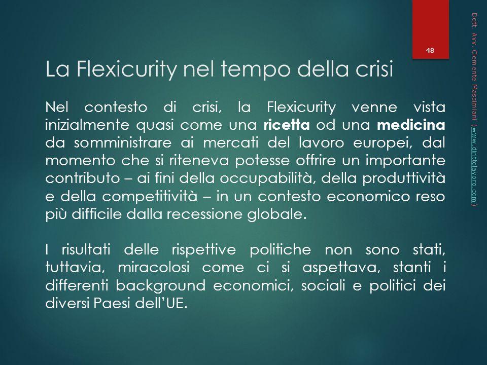 La Flexicurity nel tempo della crisi