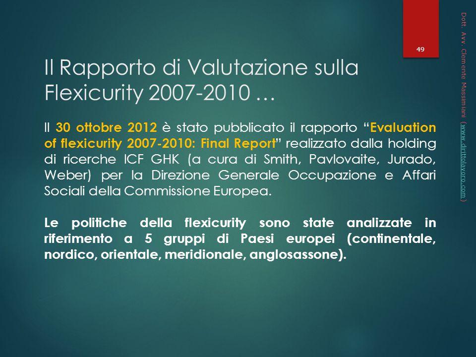 Il Rapporto di Valutazione sulla Flexicurity 2007-2010 …