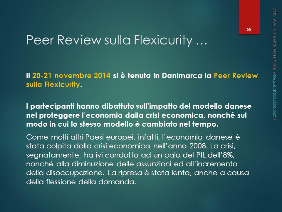 Peer Review sulla Flexicurity …