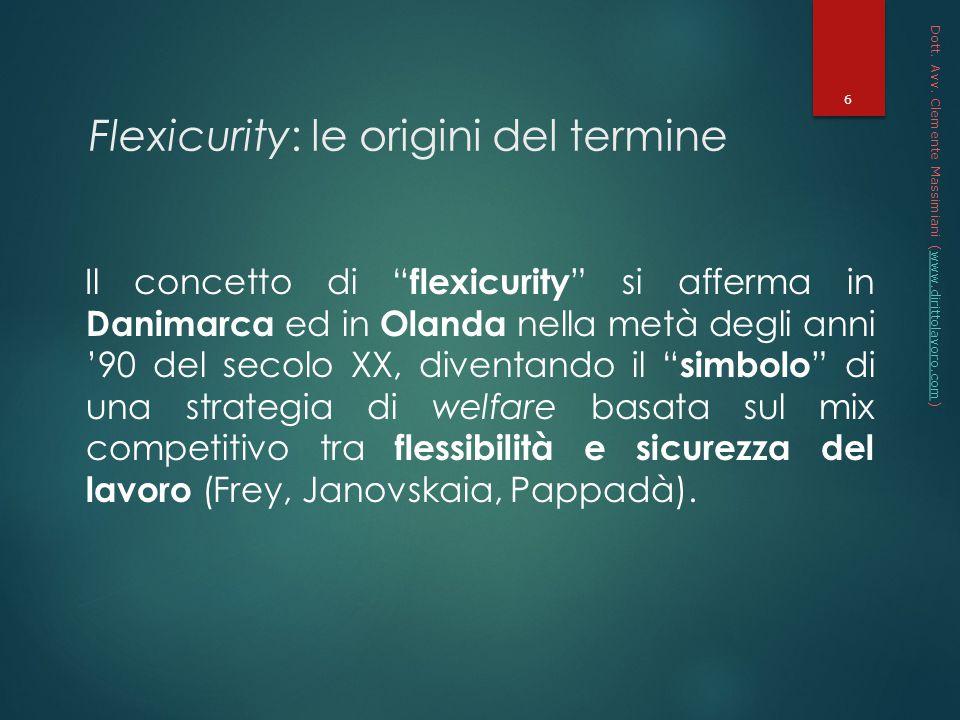 Flexicurity: le origini del termine