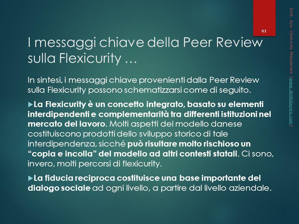 I messaggi chiave della Peer Review sulla Flexicurity …