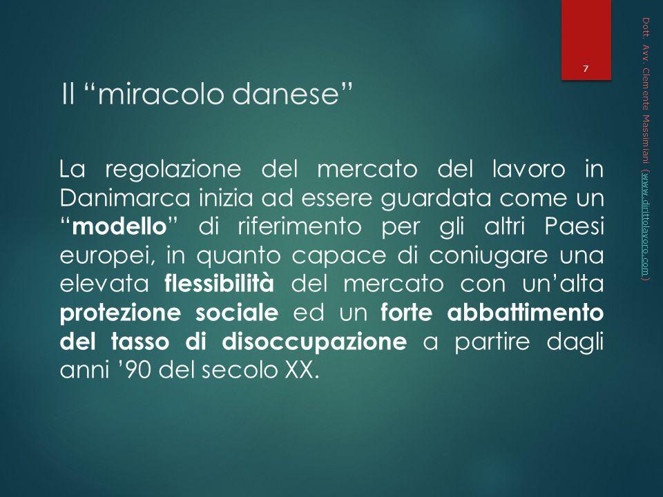* 16/07/96. Dott. Avv. Clemente Massimiani (www.dirittolavoro.com) Il miracolo danese