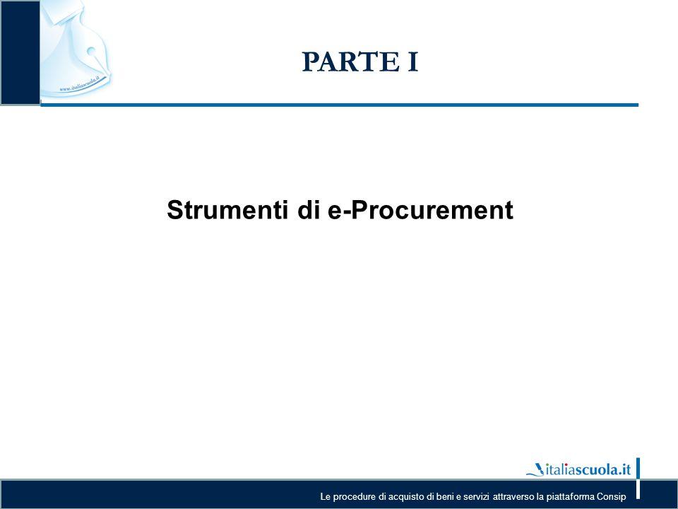 Strumenti di e-Procurement
