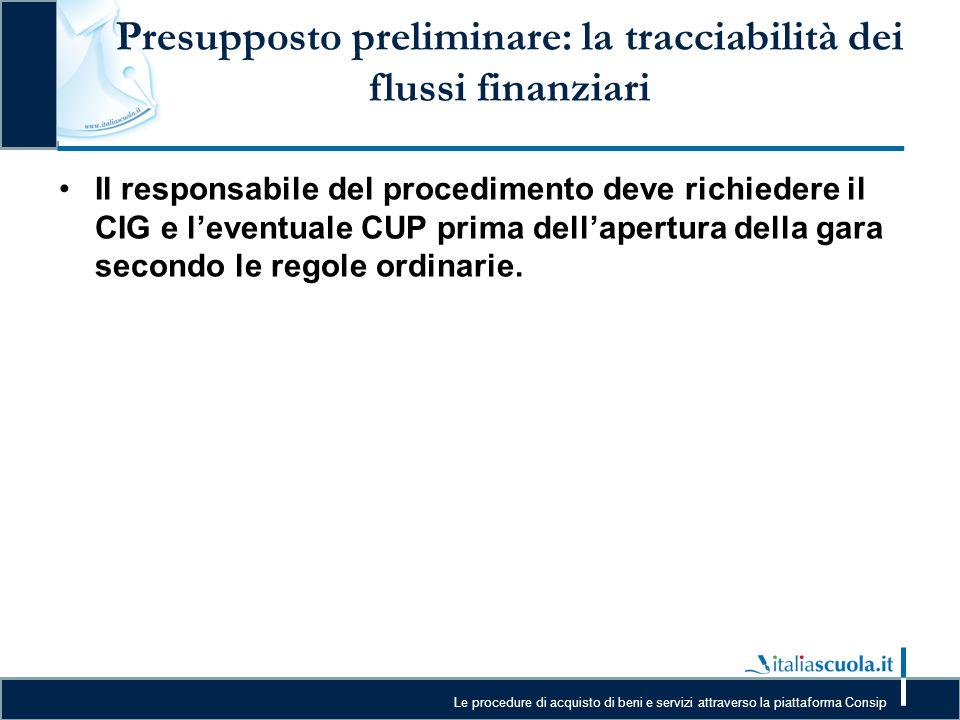 Presupposto preliminare: la tracciabilità dei flussi finanziari