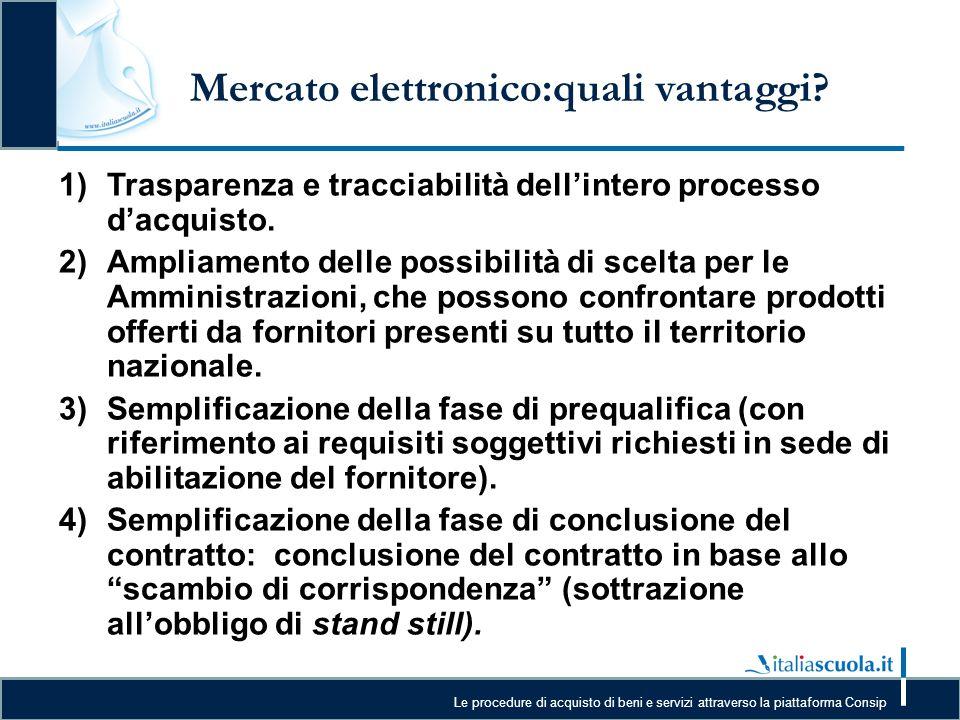 Mercato elettronico:quali vantaggi