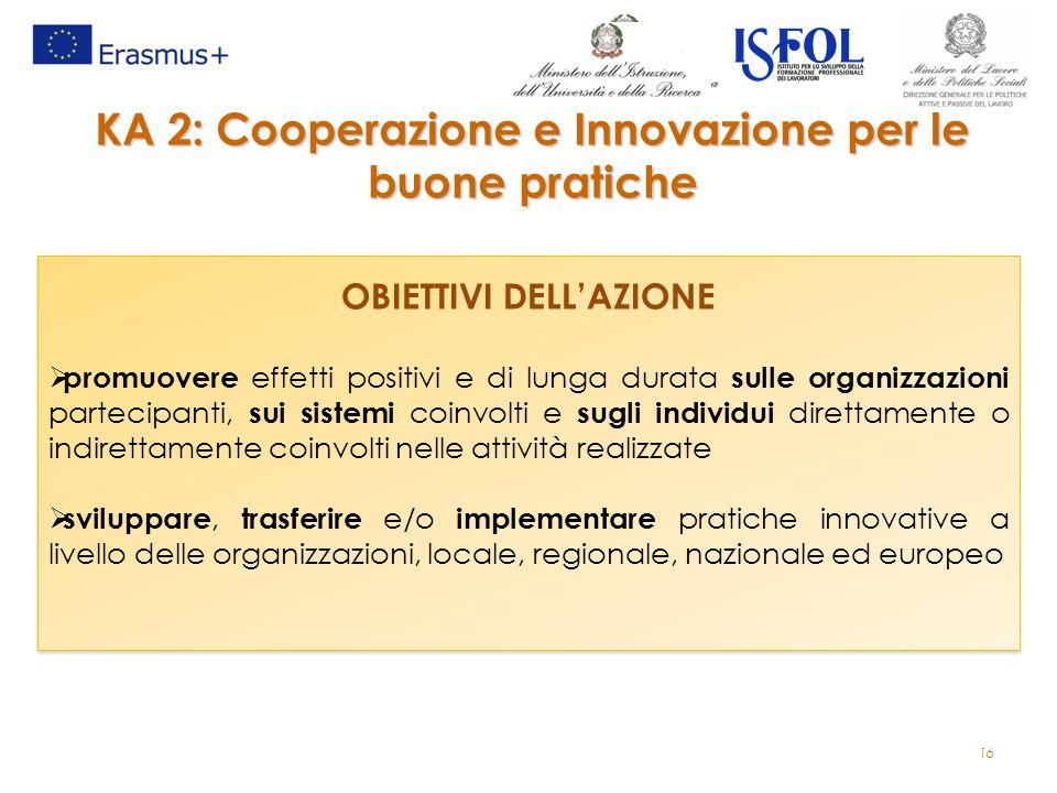 KA 2: Cooperazione e Innovazione per le buone pratiche
