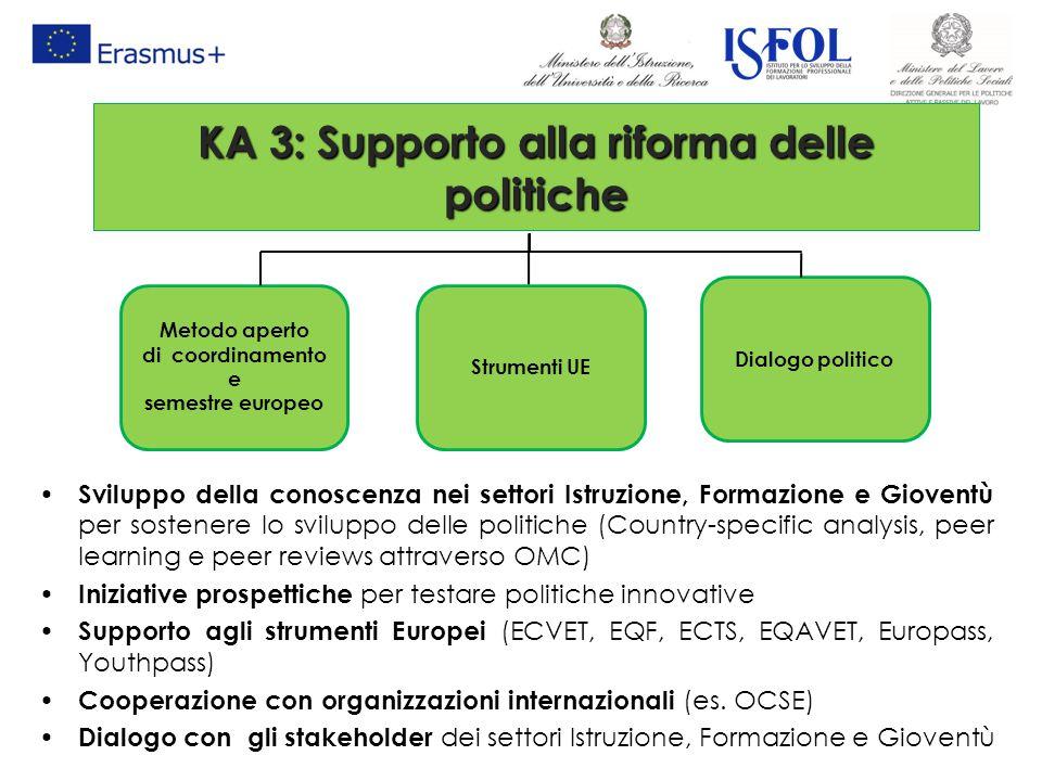 KA 3: Supporto alla riforma delle politiche