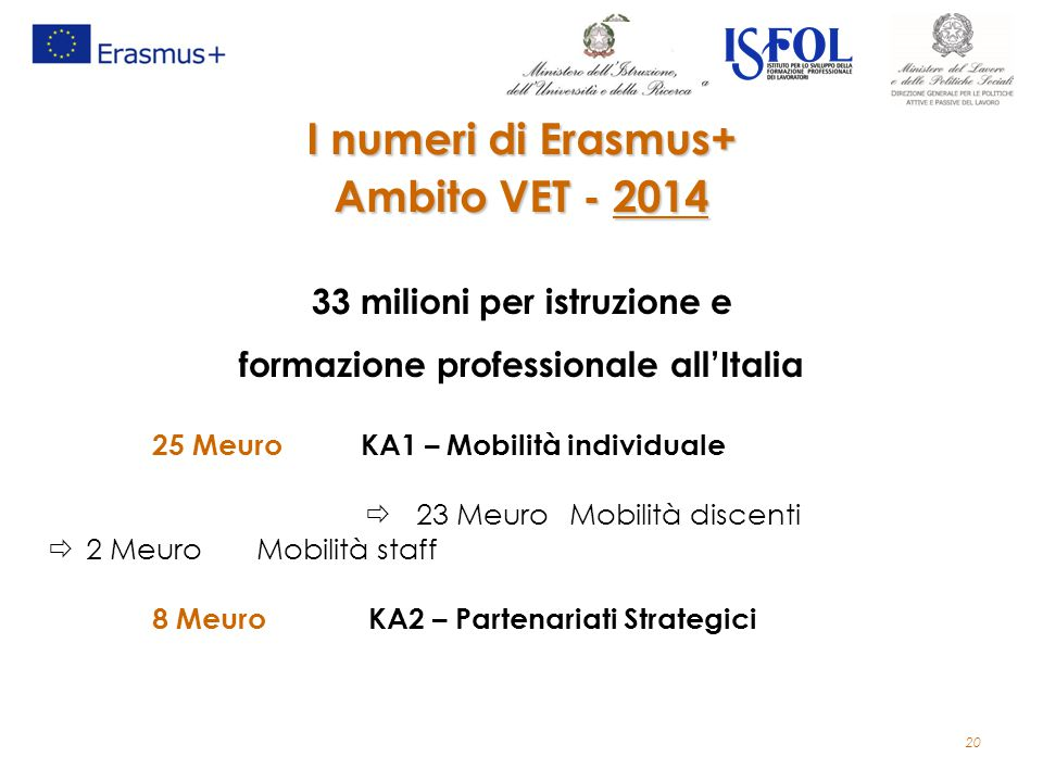 33 milioni per istruzione e formazione professionale all'Italia