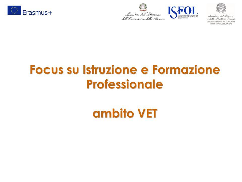 Focus su Istruzione e Formazione Professionale ambito VET