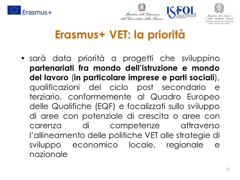 Erasmus+ VET: la priorità