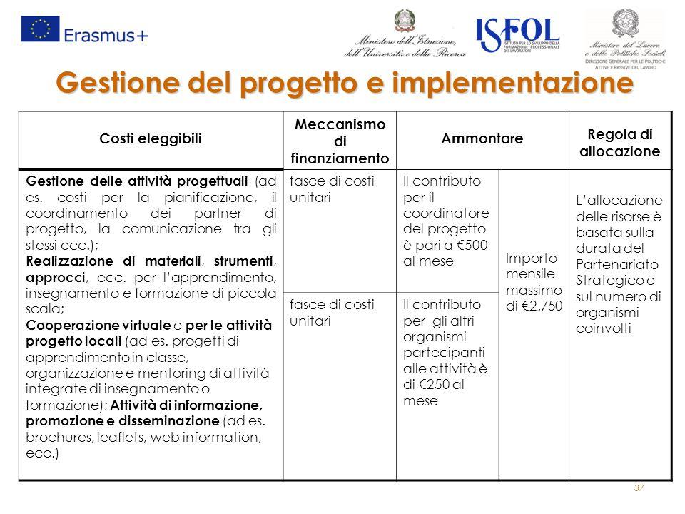 Gestione del progetto e implementazione