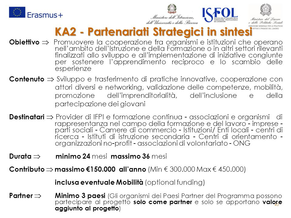 KA2 - Partenariati Strategici in sintesi