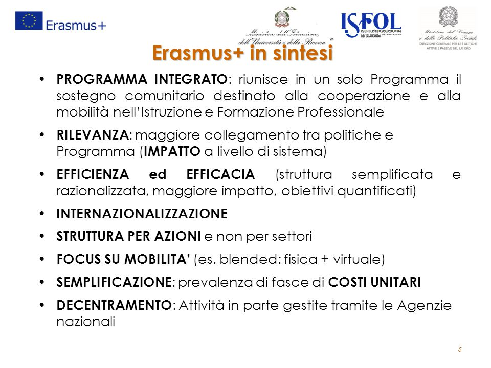Erasmus+ in sintesi