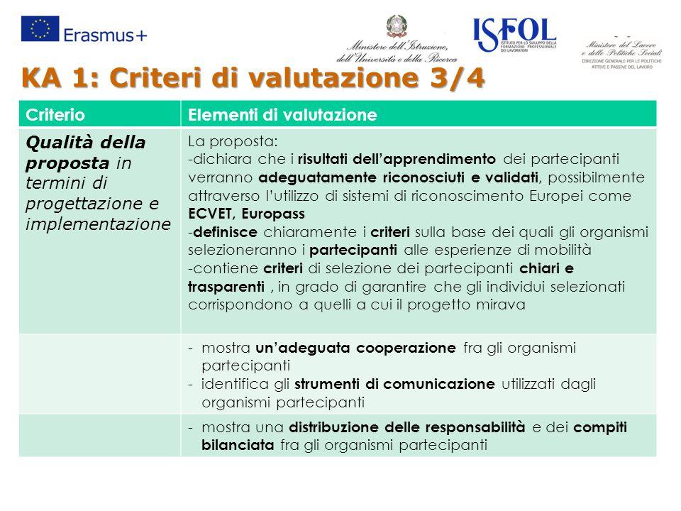 KA 1: Criteri di valutazione 3/4