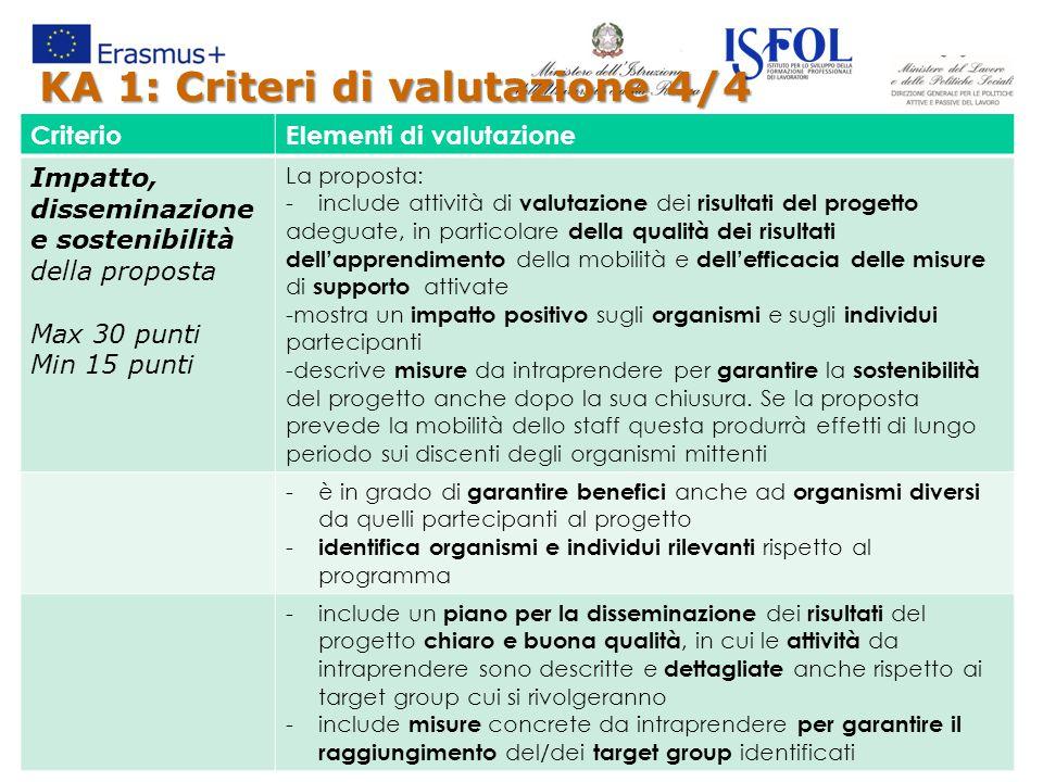 KA 1: Criteri di valutazione 4/4
