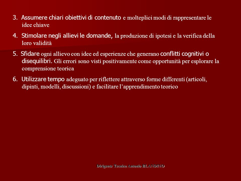 Dirigente Tecnico Antonio BLANDINO