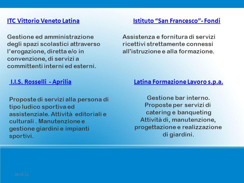 Istituto San Francesco - Fondi Latina Formazione Lavoro s.p.a.