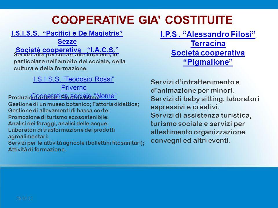 COOPERATIVE GIA COSTITUITE