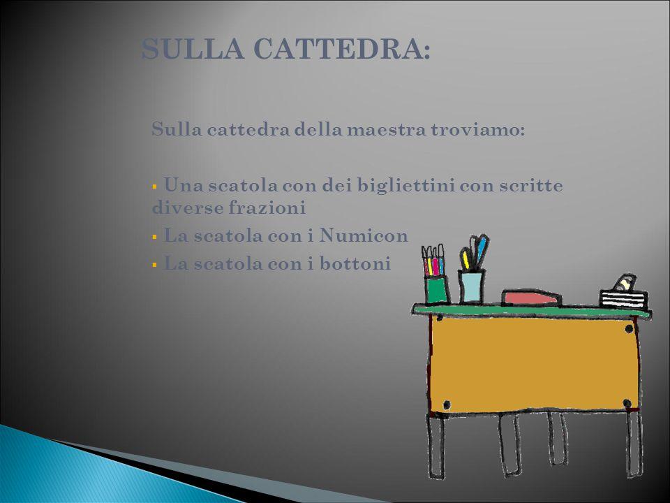 SULLA CATTEDRA: Sulla cattedra della maestra troviamo:
