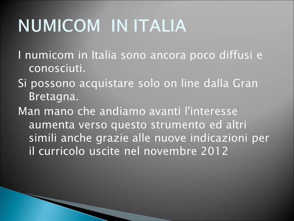 NUMICOM IN ITALIA I numicom in Italia sono ancora poco diffusi e conosciuti. Si possono acquistare solo on line dalla Gran Bretagna.