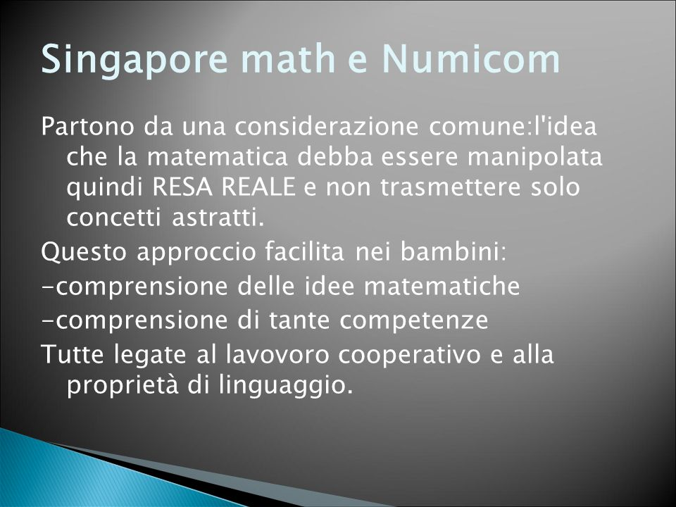 Singapore math e Numicom