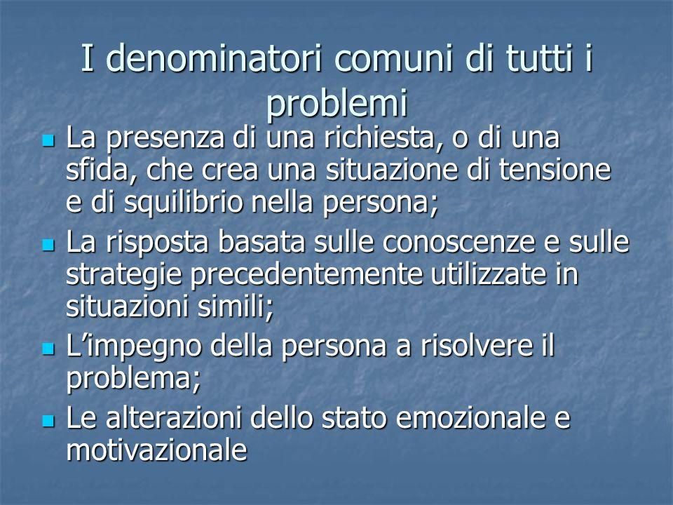 I denominatori comuni di tutti i problemi