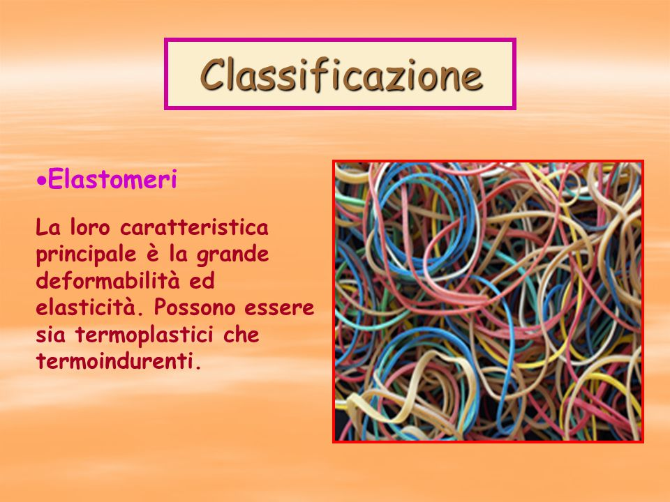 Classificazione Elastomeri