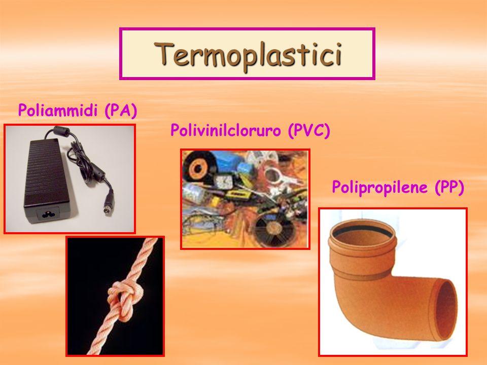 Termoplastici Poliammidi (PA) Polivinilcloruro (PVC)