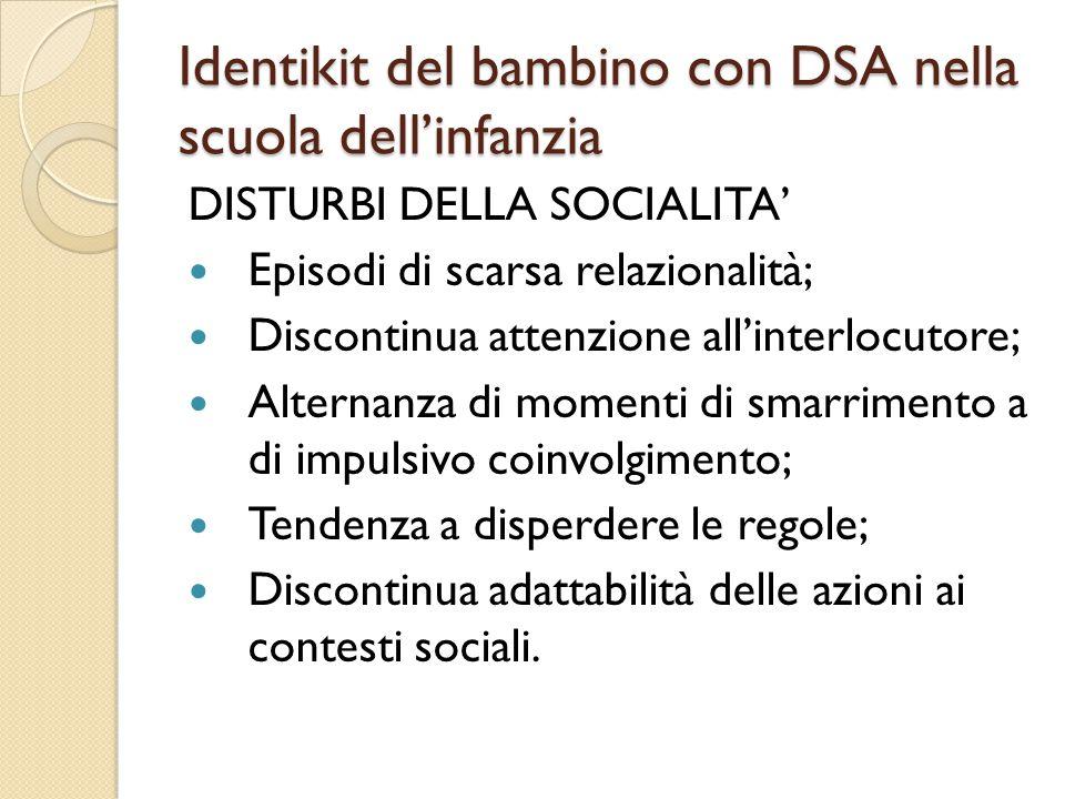 Identikit del bambino con DSA nella scuola dell'infanzia