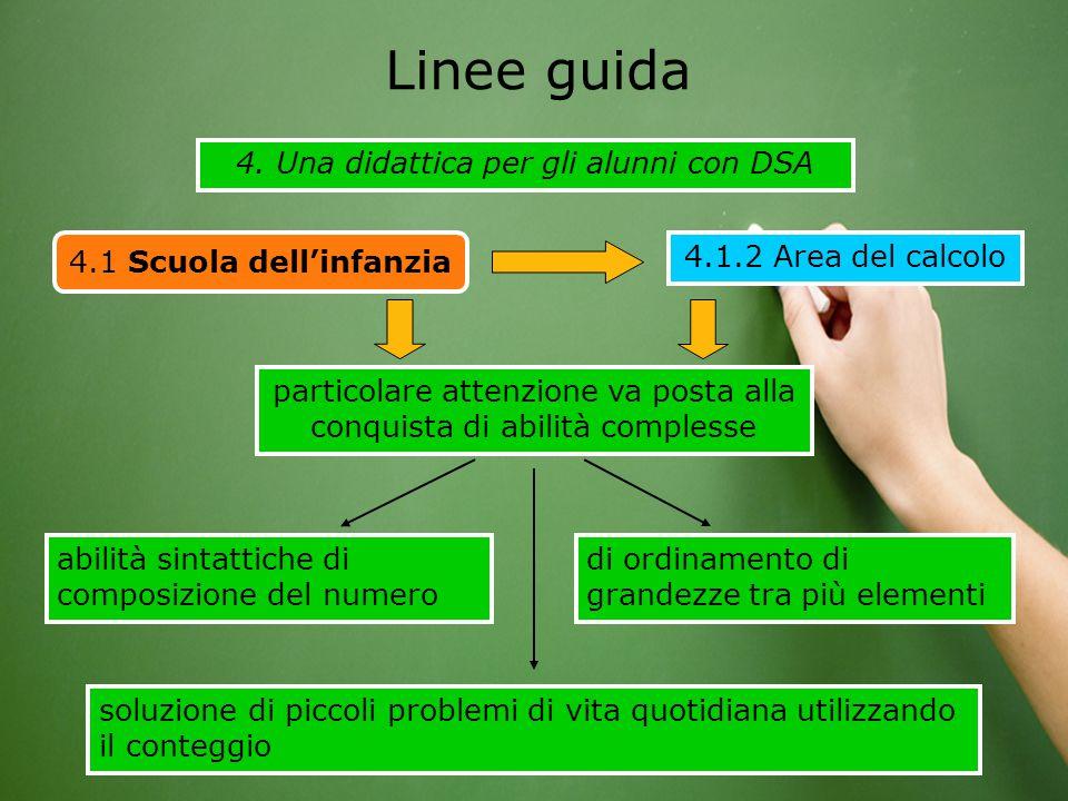 Linee guida 4. Una didattica per gli alunni con DSA