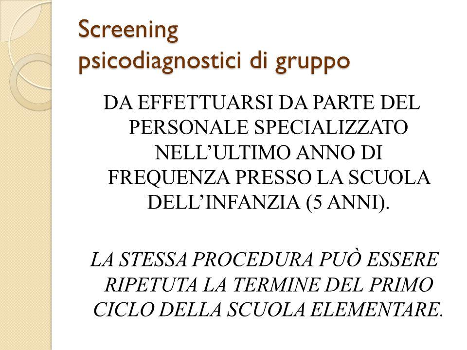 Screening psicodiagnostici di gruppo