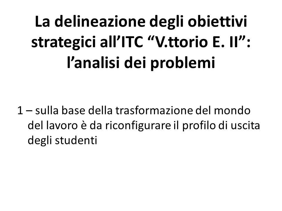 La delineazione degli obiettivi strategici all'ITC V. ttorio E