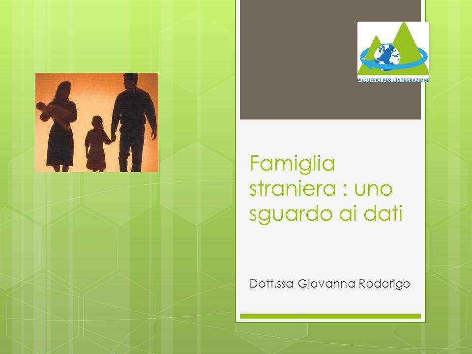 Famiglia straniera : uno sguardo ai dati