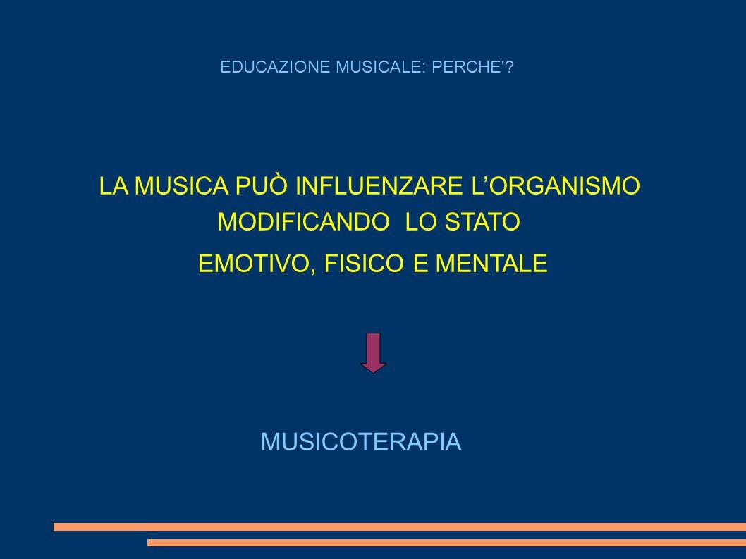 LA MUSICA PUÒ INFLUENZARE L'ORGANISMO MODIFICANDO LO STATO