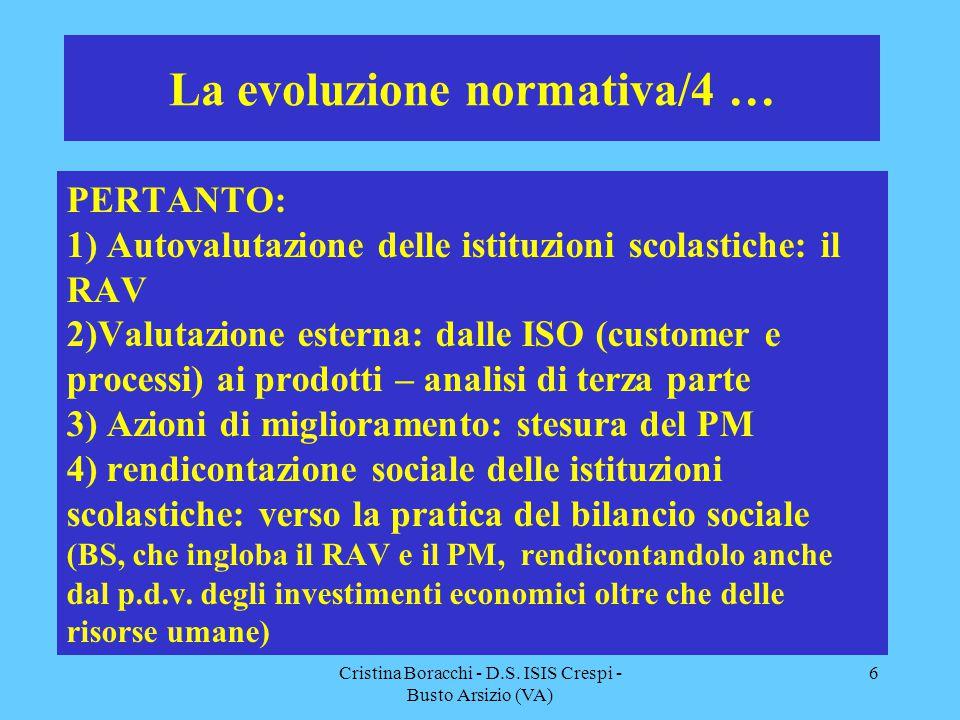 La evoluzione normativa/4 …