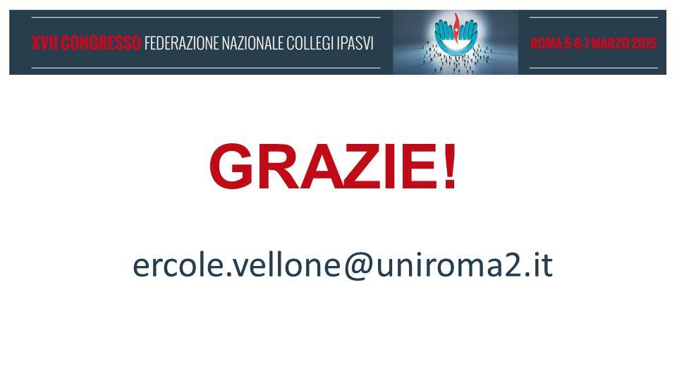 GRAZIE! ercole.vellone@uniroma2.it