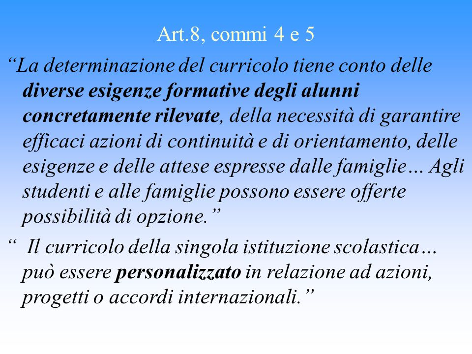 Art.8, commi 4 e 5