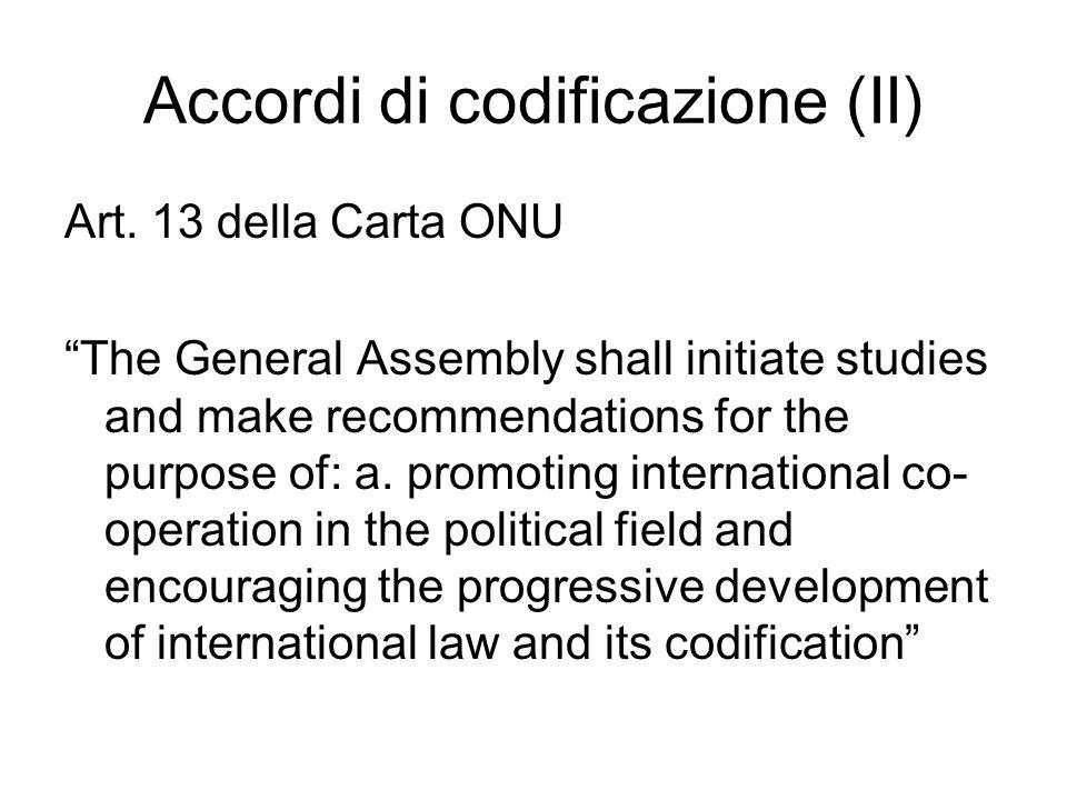 Accordi di codificazione (II)