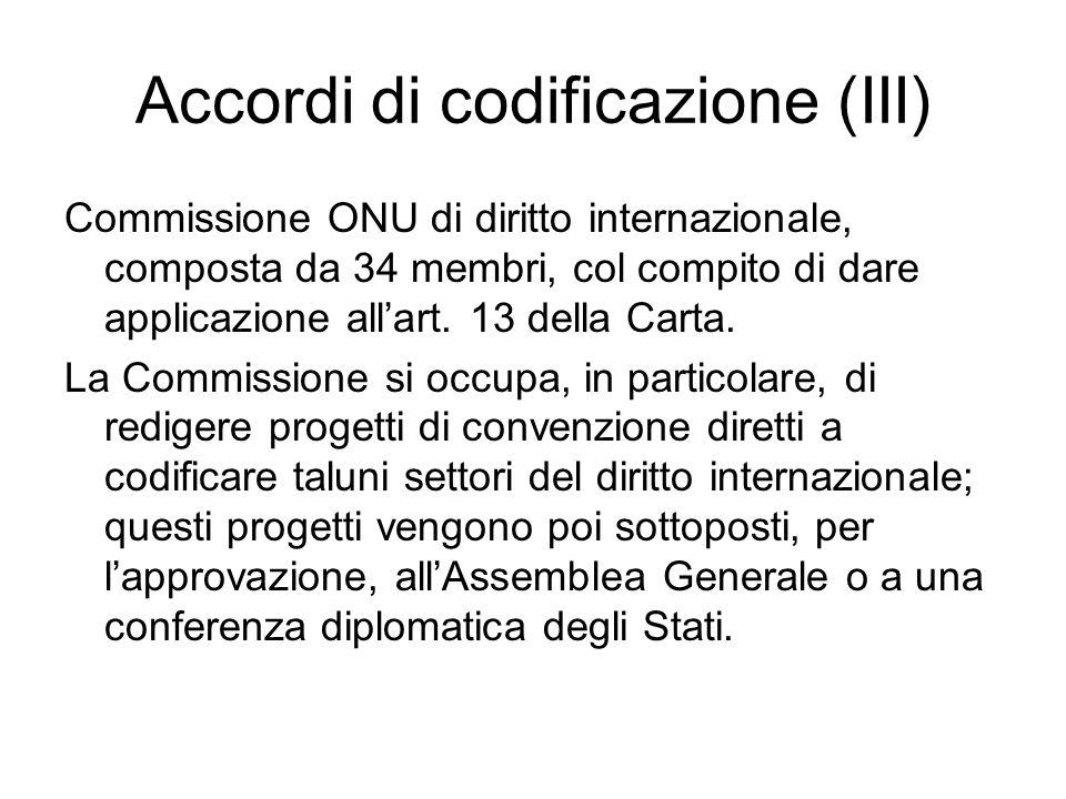 Accordi di codificazione (III)