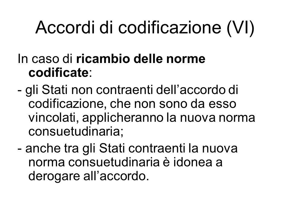 Accordi di codificazione (VI)