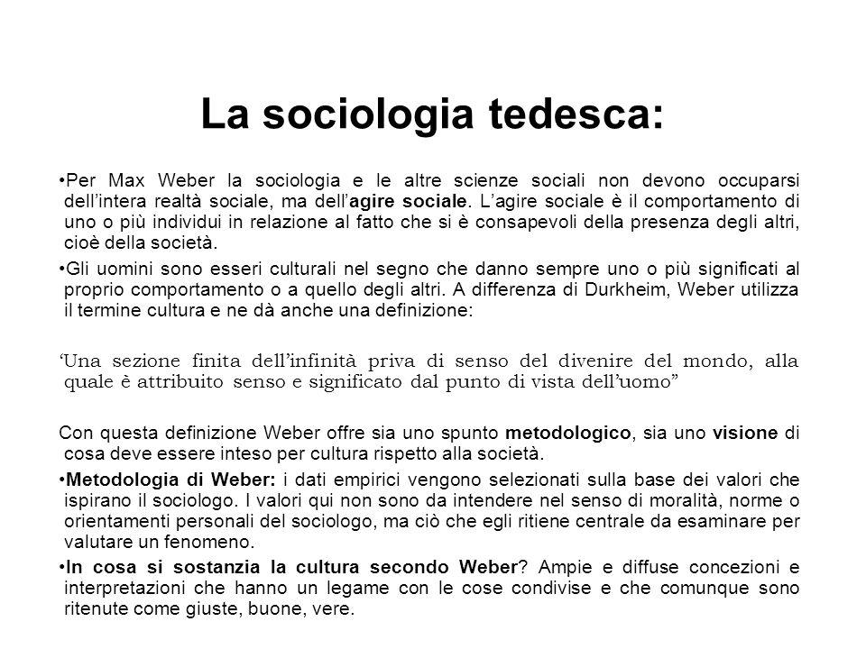 La sociologia tedesca: