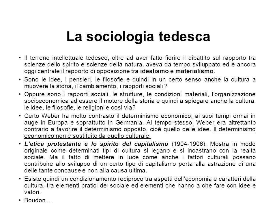 La sociologia tedesca
