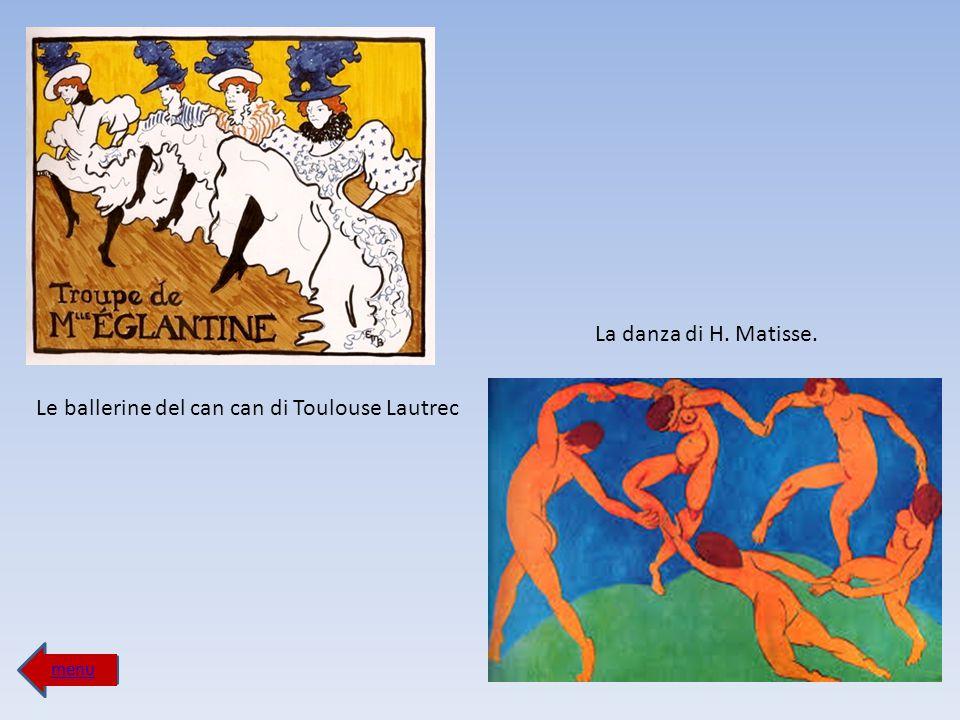 Le ballerine del can can di Toulouse Lautrec