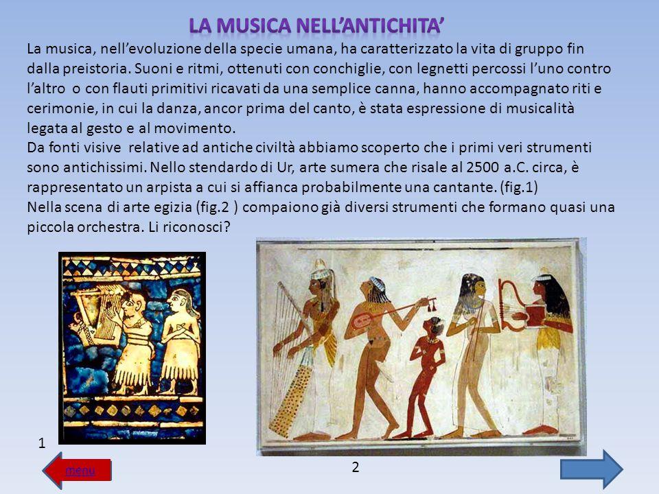 LA MUSICA NELL'ANTICHITA'