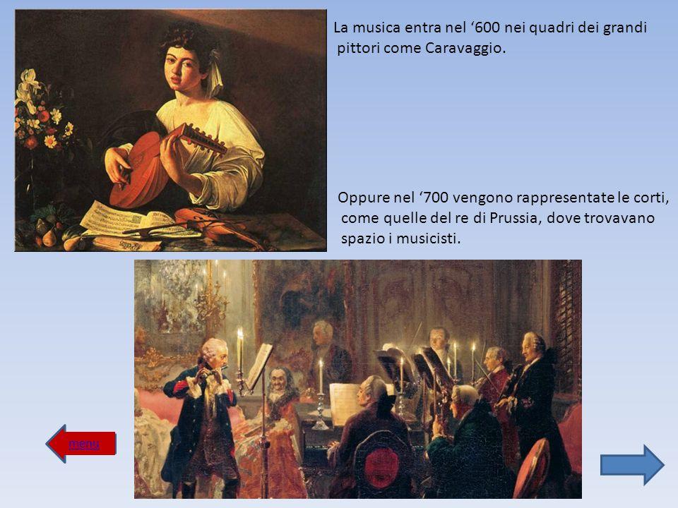 La musica entra nel '600 nei quadri dei grandi