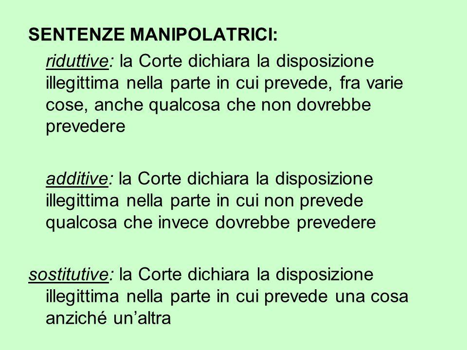 SENTENZE MANIPOLATRICI: